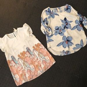 Estampa blouses x2! Floral and cactus patterns.